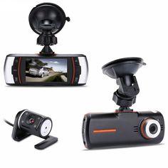 "New 2.7"" F90 Dual lens car DVR Camera Recorder HD 1280*720P 140 degree+Rear IR Camer HDMI H.264 G-sensor"