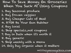 Do you suck at using coupons?  So do I.  Here's how I save money at the grocery store!