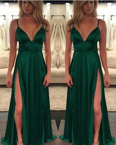Dark Green Prom Dresses Emerald Porm Dresses Evening Gowns Green Evening Dress on Luulla Emerald Green Evening Gown, Emerald Prom Dress, Ball Dresses, Sexy Dresses, Evening Dresses, Dress Outfits, Long Dresses, Dark Green Prom Dresses, Emerald Green Dresses