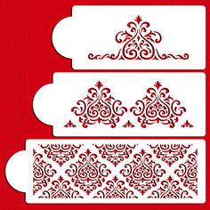 Elaine's Cake Stencil Set by Designer Stencils Wedding and Tiered Cake Stencil Sets
