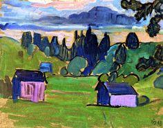 View of the Murnau Moor Gabrielle Münter - 1908