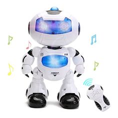 Electronic RC Robot Learning Toys - Hanmun Toddler Intelligent Action Dancing Remote Control Robot Toys with Music Lights for Kids Girls Boys Robots For Kids, Kids Toys, Toddler Toys, Toddler Dance, Futuristic Robot, Rc Robot, Humanoid Robot, Dance Sing, Kids Birthday Gifts