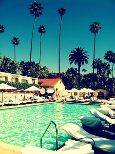 Poolside at The Beverly Hills Hotel
