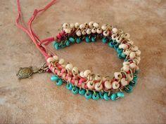 Boho Bracelet Braided Leather Bohemian Jewelry by BohoStyleMe