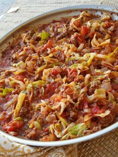 One Pan Grass-fed Beef & Cabbage Skillet - Clean Food Crush Clean Eating Recipes, Healthy Eating, Cooking Recipes, Healthy Recipes, Healthy Dinners, Healthy Foods, Keto Recipes, Fit Meals, Clean Meals