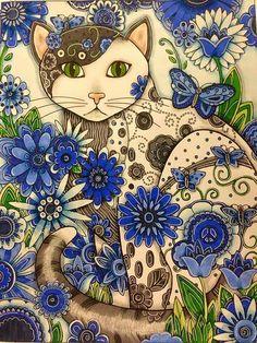 Art And Illustration, Cat Illustrations, Cat Eyes Drawing, Wal Art, Cat Quilt, Cat Colors, Arte Pop, Crazy Cats, Cool Cats