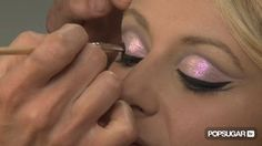 How to get Christina Aguilera's Burlesque Pink Glitter Eye Look