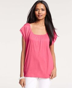 Double Layer Tee | Ann Taylor