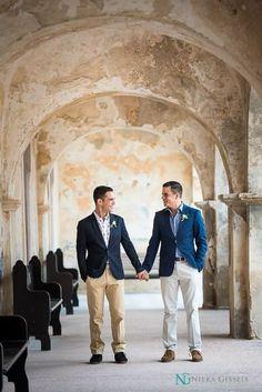 Groom Couple Outfits For Same Sex Weddings | HappyWedd.com #PinoftheDay #groom #couple #outfits #wedding #SameSex #GroomCouple