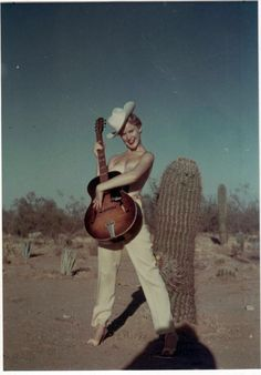 Cowgirl cheesecake photo, 1950s.