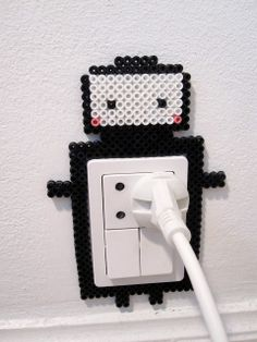 Hama Art: cute robot outlet decoration