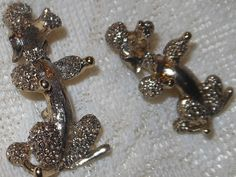 """Vintage Set 1950 /1960s GERRY'S Gold Tone Textured Figural """"Poodle Dog"""" Scatter Pin Brooches by cherylsvintagebling. Explore more products on http://cherylsvintagebling.etsy.com"""