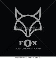 Company Logo Vector With Fox Icon Illustration element and Gold texture