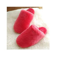 ICCASU Women's Fluff Sheepskin Fleece House Luxe Slipper Watermelon red US * See this great product. (This is an affiliate link) Women's Slippers, Mantra, 9 And 10, Open Toe, Watermelon, Footwear, Colorful, Technology, Luxury