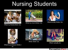 Nursing Students... - What people think I do, what I really do - Perception Vs Fact