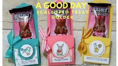 Stampingwithamore: It's A Good Day Scalloped Treat Holder Diy Paper Bag, Paper Bag Crafts, Diy Crafts, Easter Projects, Treat Holder, Card Making Techniques, Easter Treats, Easter Baskets, 3 D