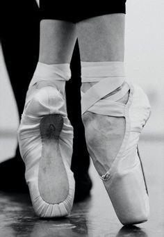 Close up of Pointe shoes. Capizio