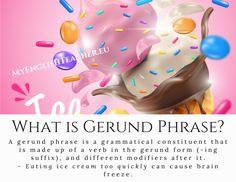 Eating Ice Cream, Sentence Structure, English Grammar, Blog, Blogging