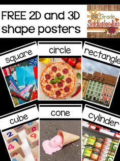 I love to use real world images during our geometry unit. I thought you might like to use these posters, too.I have included the following 2D shapes:circle (2 versions - glass and pizza)ovaltrianglesquarerectanglesame image 1 labeled diamond and 1 labeled rhombusparallelogramtrapezoidpentagonhexagonoctagon3D shapes:conecylindercubespherepyramidrectangular prismI hope these will be useful to you!