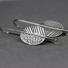 Pendientes ovalados con aretes de plata pendientes de plata