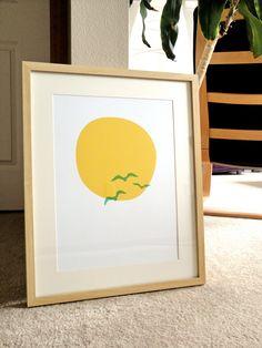 Midsummer Sun - a modern design print 13x19. $20.00, via Etsy.