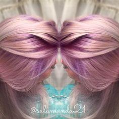 Purple rooted balayage hair