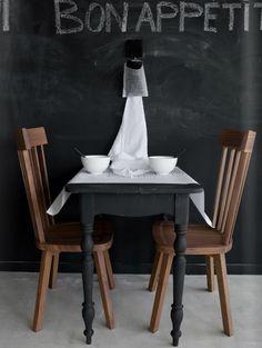 black matte painted table