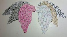 Tegne selv Englevinger ud af Påske æg (gratis skabeloner)