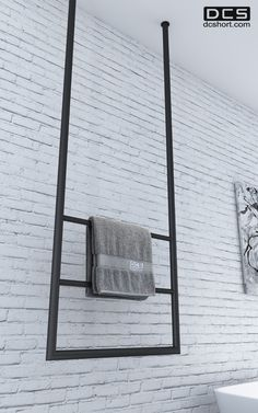 DCS Hanging Rail, Heated towel rail. www.dcshort.com