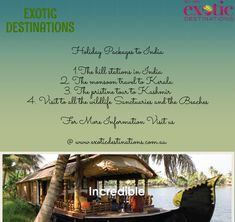 When it comes to choosing holiday packages to India, there is no travel agency that can provide you with better options in the online world than us at Exotic Destinations.