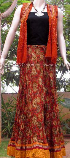 Stunning Cotton long skirt   India1001.com