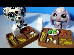 How to Make an LPS School Lunch Tray and Food w/ Plates and Cutlery: Dol. Foam Crafts, Diy Crafts To Sell, Accessoires Lps, Diy Furniture Tv Stand, Cat Furniture, Art For Kids, Crafts For Kids, Lps Accessories, Little Pet Shop