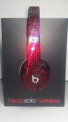 Custom Beats by Dre Solo Wireless Headphones made with Genuine Swarovski Crystals. These Solo Wireless Beats by Dre Headphones are 1 of a kind. You can add your initials or any custom lettering. Wireless Headphones, Beats Headphones, In Ear Headphones, Custom Beats, Metal Spikes, Beats By Dre, Swarovski Crystals, Perfume Bottles, Bling