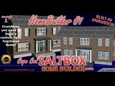 HOME BUILDER 1   Cape Cod Saltbox   - Build a custom 3D home model in under a minute!