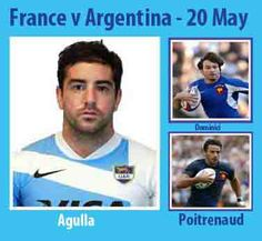 Born today 20/05 in 1988 : Belisario Agulla (Argentina Los Pumas) played v France in 2012 ... Born today 20/05 in 1972 : Christophe Dominici (France) played v Argentina in 1998FT, 1998FT, 1999, 2003, 2006, 2007FT, 2007AT ... Born today 20/05 in 1982 : Clement Poitrenaud (France) played v Argentina Los Pumas in 2012FT, 2012FT, 2012AT