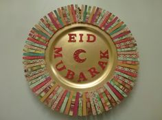 """Eid is the Arab's holiday after Ramadan. In Eid, people say """"Eid Mubarak"""" to each other. Eid Crafts, Ramadan Crafts, Ramadan Decorations, Easy Paper Crafts, Craft Stick Crafts, Handmade Crafts, Diy And Crafts, Crafts For Kids, Craft Ideas"""