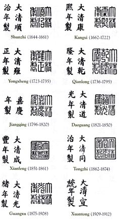 Antiques Dealers Association of California - Chinese Qing dynasty marks