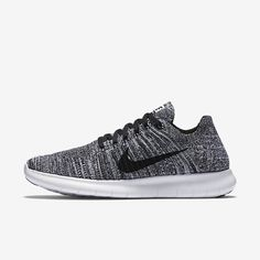 daf4c9270a5a Nike Free RN Flyknit Women s Running Shoe - White Black (looks like this  dark grey) - Size