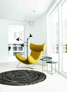 Imola chair from Bo Concept <3 the rug as well