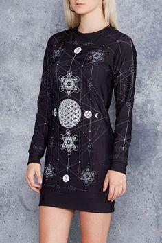 Sacred Geometry Sweater Dress - Limited