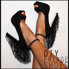 diy clothes | Filed Under: DIY , DIY Fringe Shoes , Do It Yourself , Do It Yourself ...