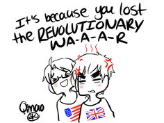 Your insecure I know what for Because you lost the REVOLUTIONARY war. // Wow the first Hetalia mentioning of the Revolutionary War with me not crying. Spamano, Usuk, Hetalia Funny, Animes On, Hetalia Axis Powers, Kaichou Wa Maid Sama, You Draw, Anime Shows, Anime