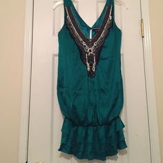 Bebe size-S woman's green embellished dress Bebe size-S woman's green embellished dress                  No trades please ((((((just reduced!!!))))) bebe Dresses Mini