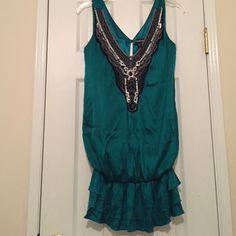 Bebe size-S woman's green embellished dress Bebe size-S woman's green embellished dress                  No trades please bebe Dresses Mini