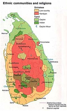 Map of Ethnic Communities and Religions.