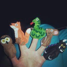 Gruffalo puppets