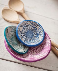Spoon Rest, Plates, Tableware, Fabric, Stamps, Licence Plates, Tejido, Dishes, Dinnerware