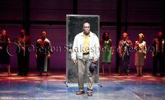 Oregon Shakespeare Festival. PARTY PEOPLE (2012): Peter Macon, Ensemble. Photo: Jenny Graham.