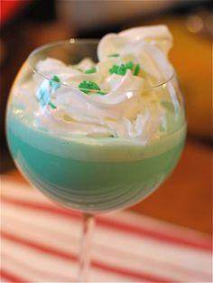 Double-Thick Shamrock Shake, a McDonald's Copycat...I'm sure this is not on my diet, but then again, St. Patrick's Day is only once a year.