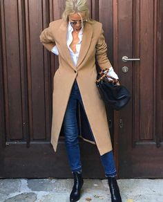 Slow Fashion, Preppy, Duster Coat, Ralph Lauren, Street Style, Chic, My Style, Womens Fashion, Camel